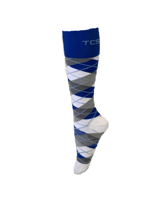 Compression Socks Ladies- Blue Grey Check