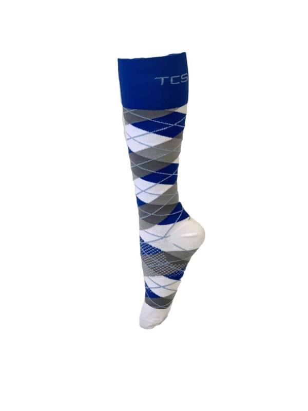 Compression Socks Ladies- Blue Grey Check