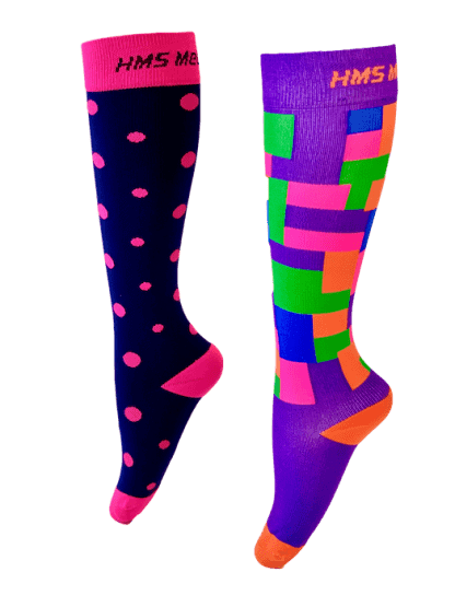 Pink Puzzles Compression Socks